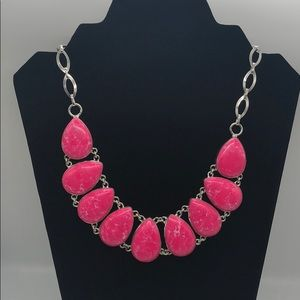 Pink Jasper .925 Sterling Silver Necklace